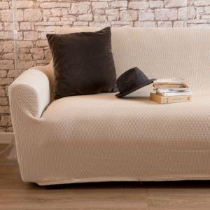 comptoir des toiles housse de canap 2 places bi extensible lisa ecru pas cher achat. Black Bedroom Furniture Sets. Home Design Ideas