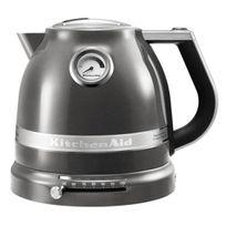 Kitchenaid - bouilloire sans fil 1.5l 2400w gris étain - 5kek1522 ems