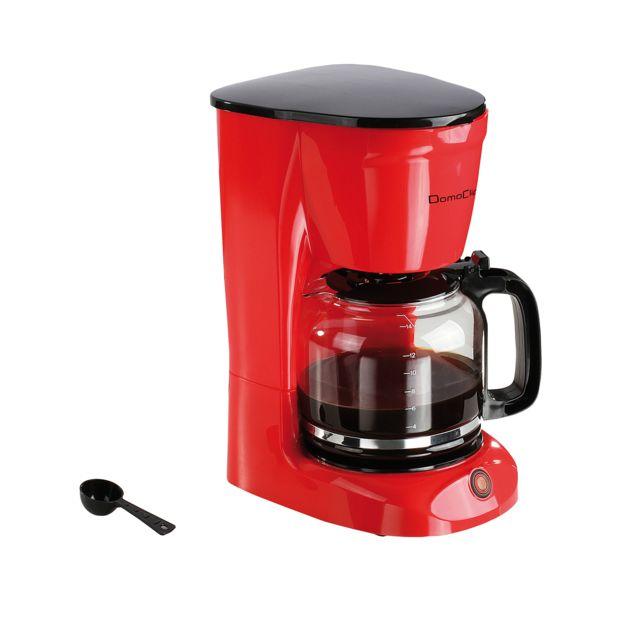 Domoclip Cafetière électrique 950W 1.8L rouge 15 tasses - Dod126R