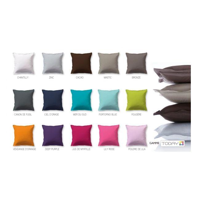 Les Douces Nuits de Maé Drap plat 240x300cm Mer Du Sud 100% Coton57fils 15 Coloris