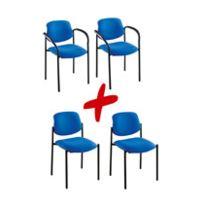Nowy styl - Pack Agora 2 sièges + 2 fauteuils tissu noir