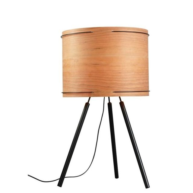Forestier - Double Wire-lampe Trépied Bois H70cm naturel - designé par Arik Levy Beige