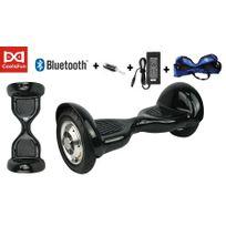 Cool&FUN Hoverboard Bluetooth,Scooter électrique Auto-équilibrage,gyropode connecté 10 pouces Noir