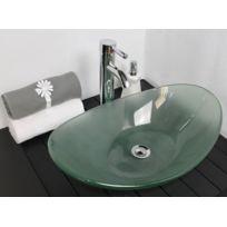 plan vasque en verre salle de bain - Achat plan vasque en verre ...
