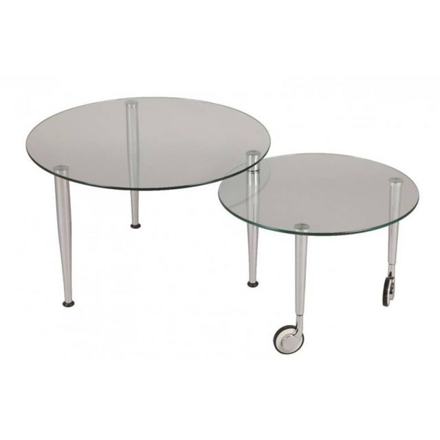 Inside 75 Table basse Eight en verre transparent