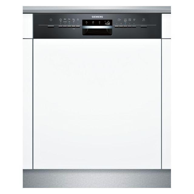 SIEMENS lave-vaisselle 60cm 12 couverts a++ intégrable avec bandeau apparent noir - sn55l632eu