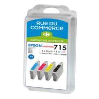 RUE DU COMMERCE - Pack de 4 cartouches compatibles Epson T0715