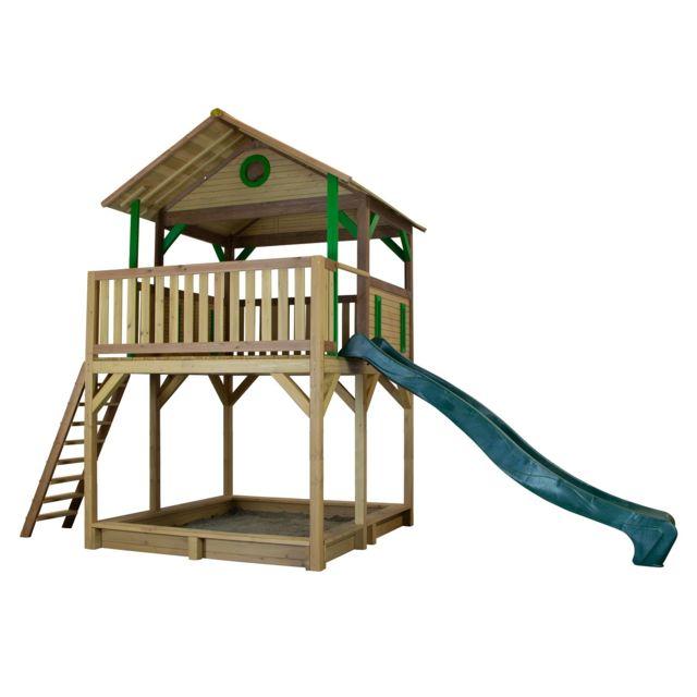 Axi Woody Play Tower brun/vert