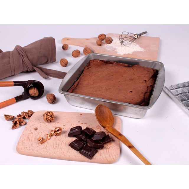Astuceo Moule à gâteaux carré en fer blanc