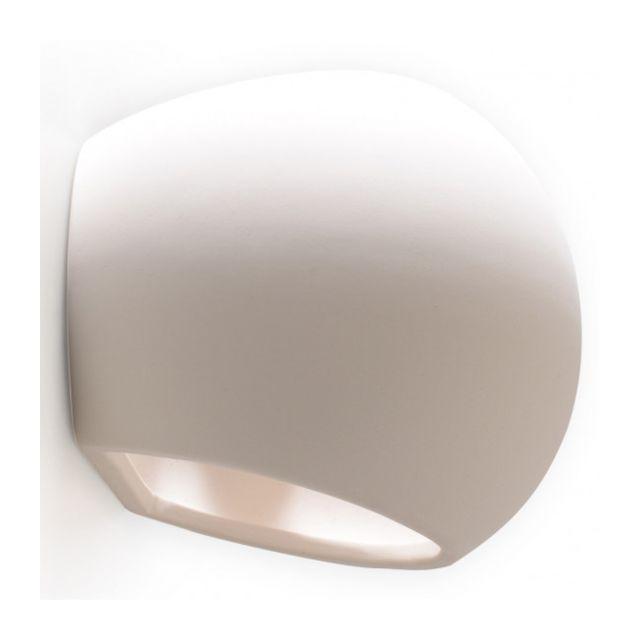 Luminaire Center Applique murale Globe céramique blanc 1 ampoule