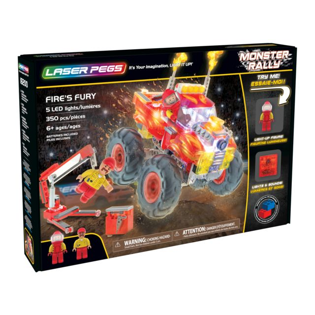 LASER PEGS MONSTER RALLY - La Fureur du Feu - 18200