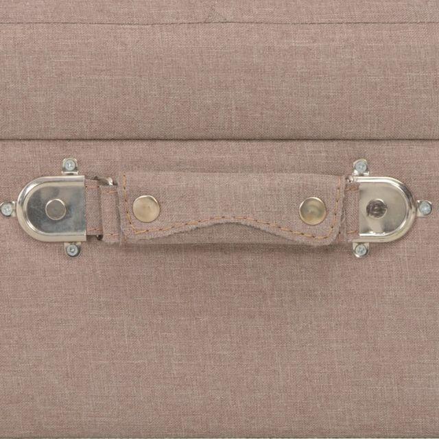 Icaverne - Bancs coffres famille Tabouret de rangement 40 cm Marron Tissu