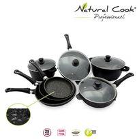 Natural Cook Professionnel - Batterie 3 poêles 20,24,28 2 sauteuses 24,28 2 faitout 24,28 cm tous feux