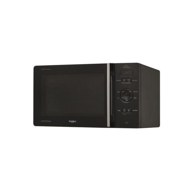 Whirlpool Micro-ondes Posable avec Grill, Chef Plus, Noir, 25 L, Cavité Peinte