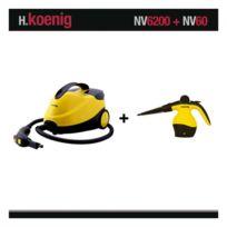 H.Koenig - Nettoyeur Vapeur Nv6200 2000W 4 Bars + Nettoyeur Nv60