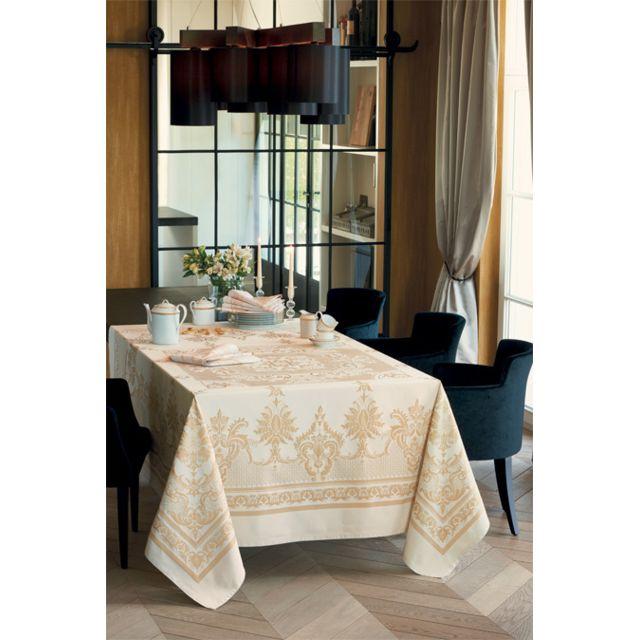 Garnier Thiebaut Nappe rectangulaire eleonore doré