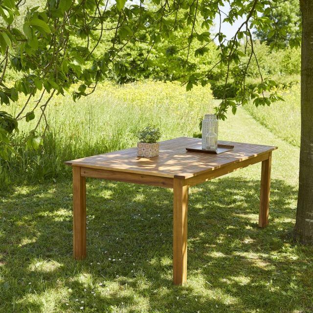 bois dessus bois dessous table de jardin en bois d 39 acacia fsc avec rallonge 8 10 places. Black Bedroom Furniture Sets. Home Design Ideas