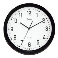 Quartz Horloge murale deco silencieuse 30cm noir