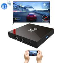 Wewoo - Android Tv Box Mini Pc noir 4K Hd Smart Tv Player avec télécommande, 7.1.2 Amlogic S905W Quad Core Arm Cortex A53 @ 2GHz, 2GB + 16GB, Bluetooth de soutien et WiFi carte Tf