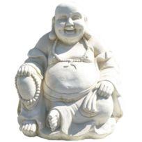 DECO GRANIT - Bouddha en Pierre reconstituée Quietude