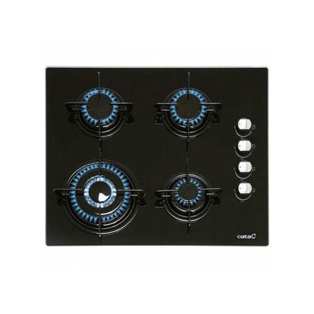 Cata Plaque au gaz Ci631BK 1412 60 cm Noir Verre 4 cuisinière