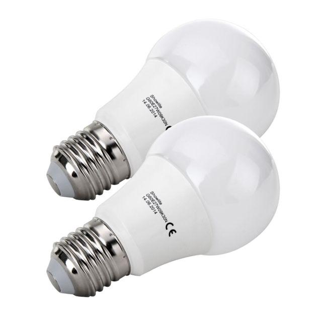 showlite lot de 2 led ampoule g60e27w09k30n 9 watts 860 lumens culot de l ampoule e27 3000. Black Bedroom Furniture Sets. Home Design Ideas
