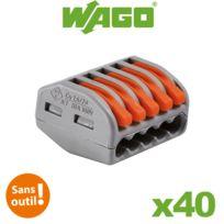 Wago - Bornes de connexion automatique S222 5 entrées par 40
