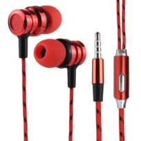 Wewoo - Ecouteur Kit Mains libre rouge pour iPhone, iPad, Galaxy, Huawei, Xiaomi, Lg, Htc et Autres Smartphones 1.2 m Basse Stéréo Sound In-Ear Contrôle Du Fil Sport Écouteur avec Micro