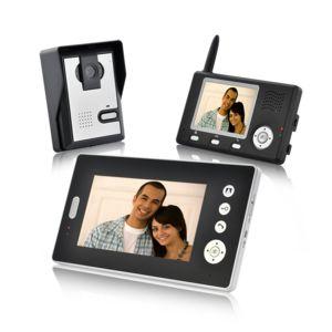 shopinnov interphone audio et vid o sans fil avec 2 r cepteurs pas cher achat vente. Black Bedroom Furniture Sets. Home Design Ideas