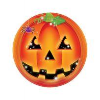 Amscan International - Assiettes citrouille Halloween x8
