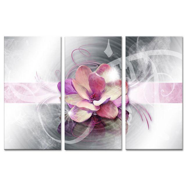 Cadre Triptyque Fleur Rose Deco Zen Vente Tableaux Modernes