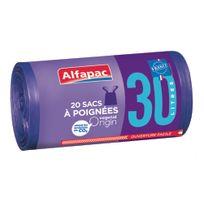 ALFAPAC - 20 Sacs poubelle à poignées - 30L - BRV03020OF