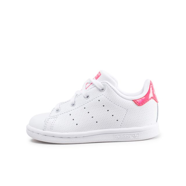 reputable site 0aa0d 47b77 Adidas - Stan Smith Bébé Blanche Et Rose Iridescent