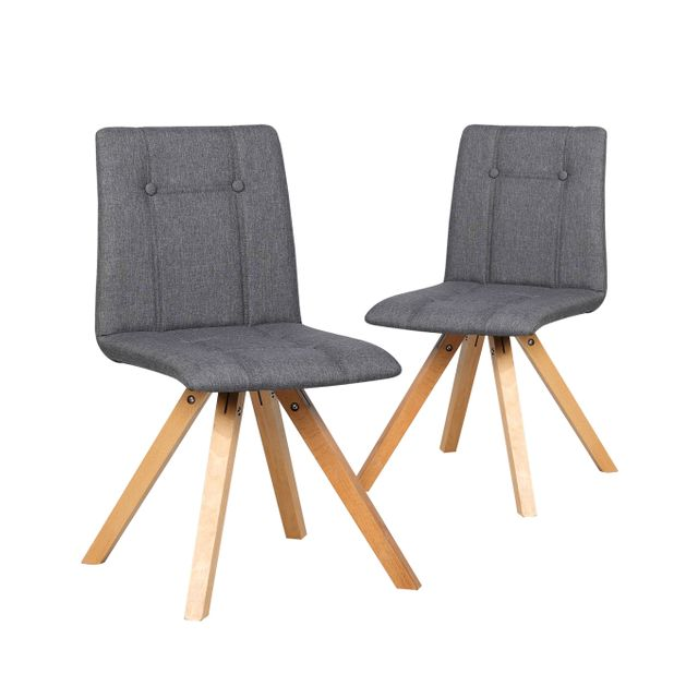Great bergen lot de chaises design scandinave gris fonc - Fauteuil cuisine design ...