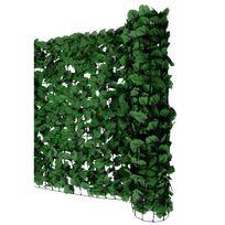 Pare-vue balcon haie hêtre, abat-vent, enveloppement pour terrasse, clôture ~ feuilles foncées 300x100cm
