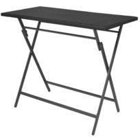 Mobilier table pliante jardin resine tressee - catalogue 2019 ...