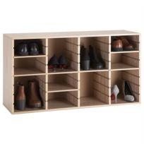 IDIMEX   Meuble à Chaussures MURRAY Casier Avec Tablettes Modulables  Rangement Pour 16 Paires, En