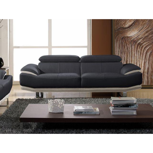 la maison du canap canap cuir 3 places osmoz cuir. Black Bedroom Furniture Sets. Home Design Ideas