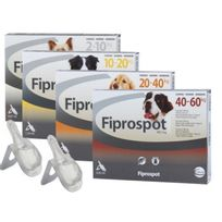 Fiprospot - Spot On soin antiparasitaire pour chiens 10/20 kg Boîte de 6 Pipettes