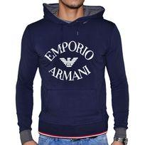 Armani - Emporio - Sweat à Capuche - Homme - J12m06j - Navy Bleu Foncé