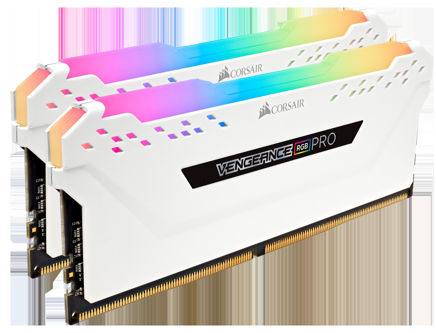 Kit de mémoire Vengeance 2 x 8 Go RGB Pro Corsair Blanc