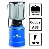 Kemper - Lampe a gaz portative piezo Ke2013 - Lampe camping coque Abs - Lampe de camping pour cartouche gaz 190g