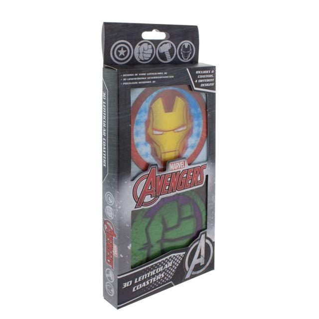 Kas Design Lot de 8 Sous-Verres Animés Super-Héros Marvel