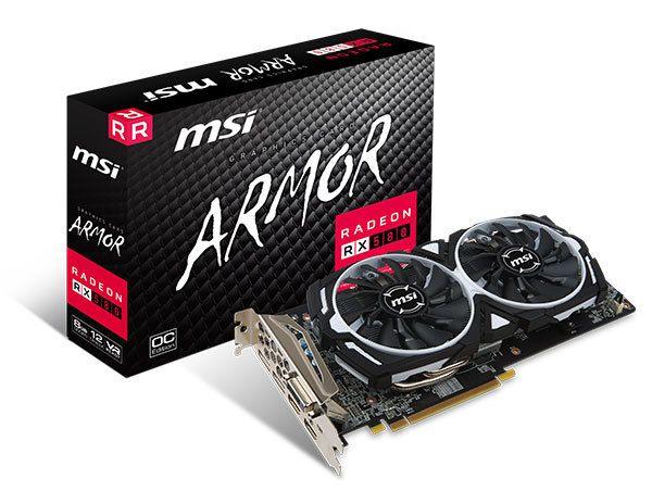 Msi Carte Graphique Gamer Radeon Rx 580 Armor Oc 8 Go Carte Graphique