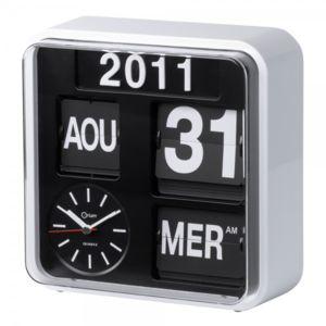 aic horloge flip flap r tro avec calendrier orium hisrev13 pas cher achat vente r veil. Black Bedroom Furniture Sets. Home Design Ideas