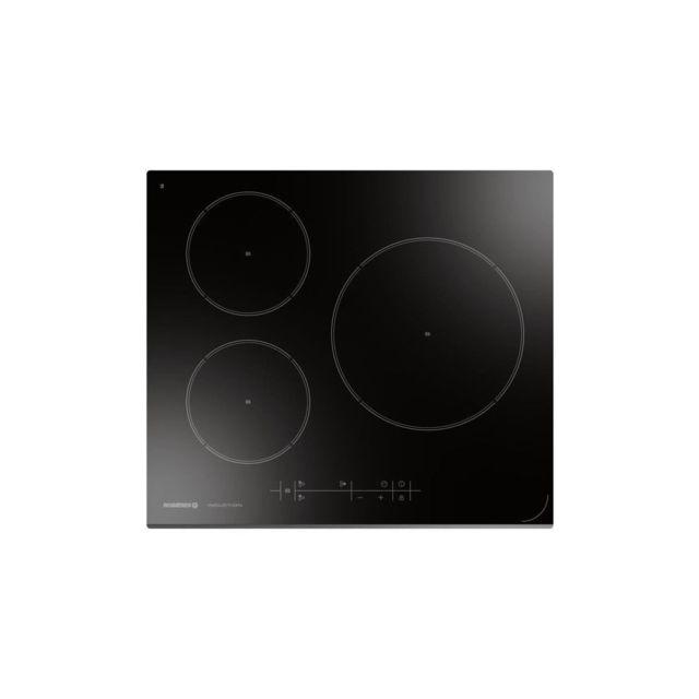 Rosières Rosieres Rpi2s0-table De Cuisson Induction-3 Foyers-7100 W-l 59 X P 52 Cm-revetement Verre-noir