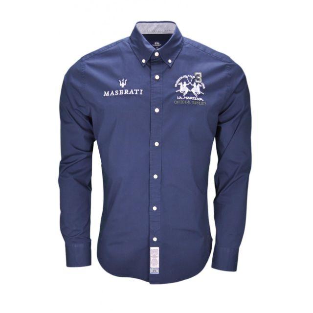 85797d72e80 Lamartina - Chemise La Martina Maserati bleu marine pour homme - pas ...