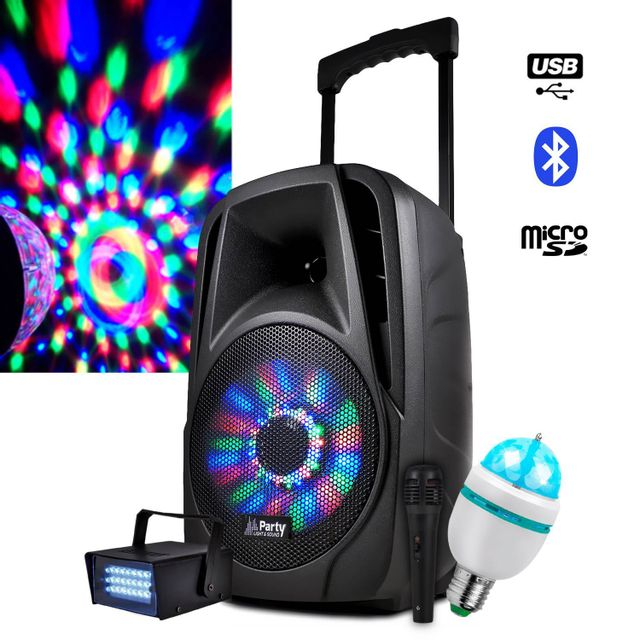 Party Sound Enceinte mobile Karaoke 300W 8