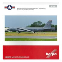 Herpa - 555739 Usaf Boeing B-52H B52 Stratofortress 23RD Bomb Sqn Bomber Barons 5TH Bomb Wing War Birds Minot Afb 1:200 Diecast Mo