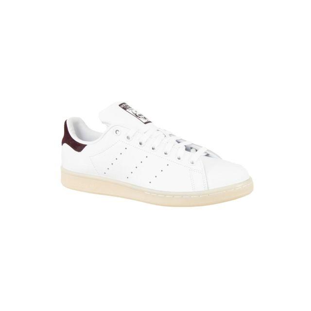 new product b91a6 a7ab5 Adidas - Baskets mode originals bz0487 stan smith blanc - pas cher Achat   Vente  Baskets homme - RueDuCommerce
